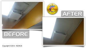 Ceiling Cleaning and Restoration Before and After
