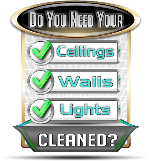 Do you need your ceiling, wall and lights cleaned, then call Kansas City Ceiling Cleaning