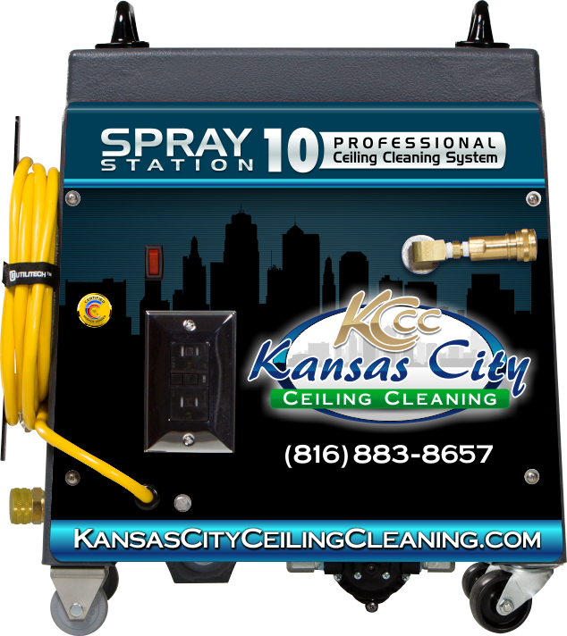 Spray Station 10 Ceiling Cleaning System Designed for High Dusting Ceiling Cleaning Services in Raytown Missouri